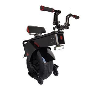 Scooter de motocicleta elétrica adulto Uma roda scooters elétricos de 18 polegadas Pneus gordos de gordura Unicycle elétrico 1500W Motor Velocidade máxima 25km / h