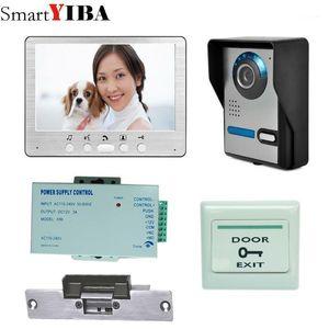 Video Door Phones SmartYIBA 7inch TFT- LCD Intercom Doorbell System Monitor Screen Phone+ IR Night Vision Outdoor Camera1