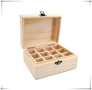 EASONOV 12 Izgaralar Ahşap Essential Oil Doğal Çam Ahşap Aromaterapi Kutular 5-15ml İçin Ev Dekorasyonu El Yapımı El Sanatları Y1113