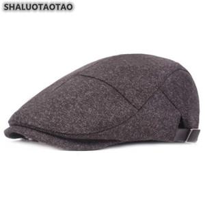 SHALUOTAOTAO Autumn Winter Trend Men's Fashion Cotton Berets Adjustable Size Middle Old Aged Brand Leisure Sports Cap Dad's Hat