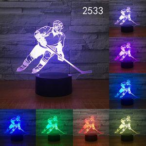 Wholesale Optical Illusion Light 3D Custom Logo Lamp 7 Color Change Black Halloween LED lamp Desk Child Christmas Night Light