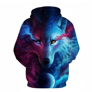 Wolf Hoodies 3D Digitaldruck Männer Hoodies Sweatshirts 2020 Langarm Casual Pullover Herbst Tracksuits Harajuku1