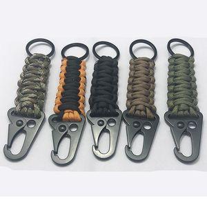 EDC Corda Keychain Outdoor Camping Kit Survival Kit Militare Paracadute Cavo di emergenza Knot Key Catena anello Camping C Jllhos
