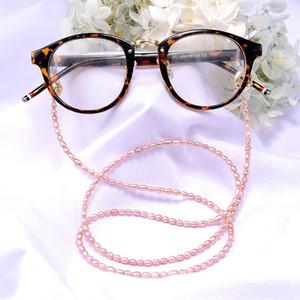 MOON GIRL 72cm Pearl Sunglasses Chain Women 18K Gold Plated Reading Eyewears Ribbon Clip Mask Holder Neck Strap Lanyard Dropship