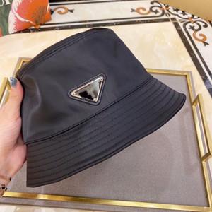 Vente en gros de luxe-Summer Sunbucket Hat Protection Protection de pêche Haute Qualité Pure Couleur Lettres Bob Boonie Bucket Chapeaux d'été P27