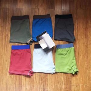 Külot Erkek Erkekler Moda Katı Renk Beş Boyutları Pamuk Seksi Boksör Külot Rahat Nefes İç Giyim
