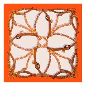 POBING PURE SEIDEN SCHAUM Frauen Große Tücher Stolen Schmelzkette Druck Quadratische Schals Echarpes Foulards Femme Wrap Bandanas 130 * 130cm