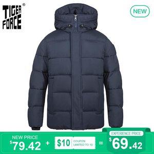 jaqueta de inverno com capuz Mid-comprimento moda masculina Parka da Força Homens TIGER jaqueta com capuz Casual Quente Thicken Overcoat 70750