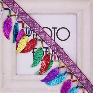 10yards Accesorios Cinta Coloreado Lentejuelas Lentejuelas Cordón Tassel Recorte Fringes Para DIY Costura Ropa Cortinas Decoración H Jllbmd