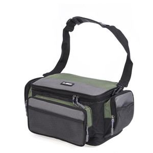 Multifunction Outdoor Fishing Bag Sports Waist Pack Fishing Lures Gear Storage Case Canvas Single Crossbody Tool Bags Waterproof