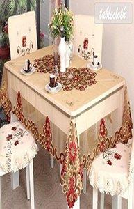 Winlife oro Tovaglia Ricamo Tovaglia europea di stile Royal Gold Table Overlay Winlife Oro sconto bbyAQT hotstore2010