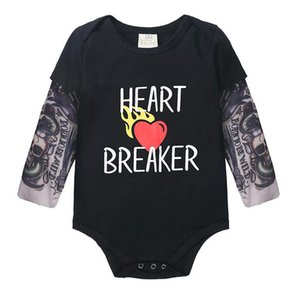 Spring and autumn 2020 children's underwear hot new fashion tattoo long sleeve hatsuit large PP pants Jumpsuit