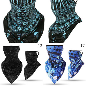 Bandana Mask New Pendant Ice Triangle Silk Face Sports Tube Scarf Neck Leggings Cover Fishing Headband Running Hiking Men WY1
