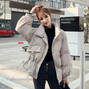 Make Cotton-Padded Jacket Dress Tide Female New Winter Loose Or Lend Little Bread Web Celebrity Show Thin Waist Coat