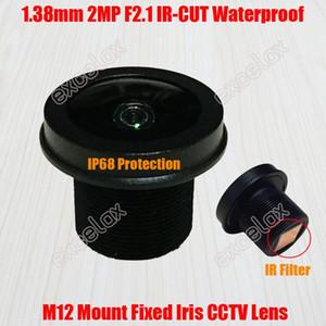2MP 1.38mm زاوية واسعة مشاهدة IP68 للماء F2.1 M12 جبل CCTV IR CUT IR تصفية MTV مجلس عدسة للكاميرا IP النظير من قبل Excelax