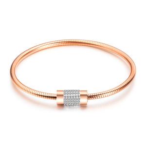 Europäische und amerikanische Mode Armreif Frauenntitaniumstahl Hohe Qualität Heißer Verkauf Überzogener Magnet Verschluss Armband Armreif Mädchen Geschenk