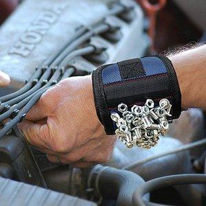 Fortes bandas de pulso Suporte magnético Pulseira ajustável para Parafusos Pregos Porcas Parafusos Broca Tool Holder Belt CLH Yz2D #