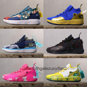 New Boys Kids Kevin Durant KD 11 11S Multi Color KD11 XI Trainers Zoom Youth Girls Women X Elite Mid Sport Basketball Shoes