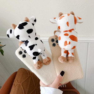 Three dimensional Plush cow doll phone case For iPhone12 12pro 12 mini 11 PRO XS MAX XR XS 7 8 plus Phone Case
