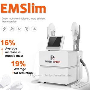Newest design EMSLIM Electro Magnetic Muscle Stimulation Fat Reduction Device Two applicators Burns Fat Muscle Slimming Machine