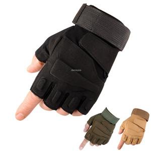 Тактические перчатки Airsoft Борьба Половина Finger перчатки Спорт на открытом воздухе Тактика перчатки без пальцев Женщины Мужчины