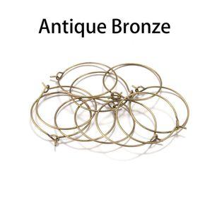 50 stücke los 20 25 30 35 mm kc Gold Hoops Ohrringe Big Circle Ear Wire Hoops Ohrringe Drähte für DIY Schmuck machen H BBYMQQQ