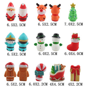 10pcs Christmas Finger Doll Mini Cute Cartoon Santa Claus Elk Hand Decoration Puppets Toy Children Gift Festive Party Supplies