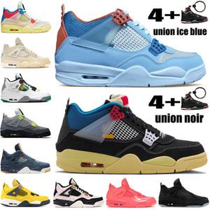 Yeni Birlik noir guava buz mavisi 4 4s jumpman erkekler basketbol ayakkabıları beyaz x yelken SE neon sarı sıcak yumruk erkek spor ayakkabıları turu