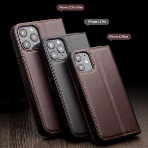(Custodia per cellulare bovina fatta a mano) Adatto per iPhone 12 11 Pro Max XS XR Copertura completa Cassa cellulare di alta qualità