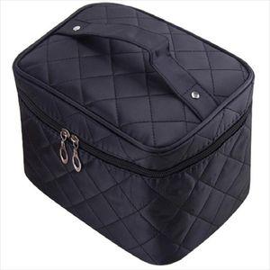 Cosmetic box new Quilted professional cosmetic bag womens large capacity storage handbag travel toiletry makeup bag sac