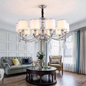 Светодиодная люстра для гостиной Chrome Crystal спальня ресторан светодиодный потолочный люстр для виллы Loft Lighting