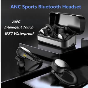 IPX7 Waterproof Touch TWS Earphone Active Noise Cancelling Bluetooth 5.0 True Wireless Sports Flexible Earhook S5A