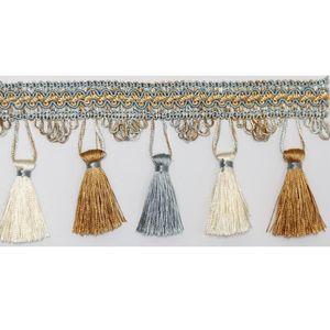6 h Fringe pro luxuriös schwarzer Vorhang Quaste Polyester Seidenzähler Trim Spitze Stoff und DIY für Vorhänge Dekorative Tasche Fringe TRIM BBBBYOA HJCO