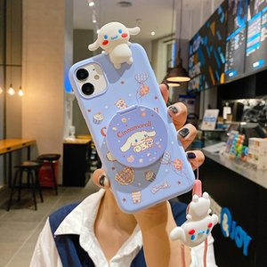 Cinnamon dog mirror Soft case for for iPhone 11 Max 12 pro max X XR Xs 6s 7 8 Plus