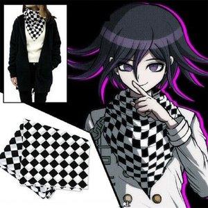Anime Danganronpa V3 Ouma Kokichi Square Scarf Wrap Cosplay Costume 95x95cm Rare Handmade 201027