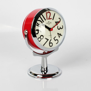 Creative Desktop Models Ordersmall Bed Twin Bell Silent Alloy Stainless Metal Alarm Clock 3dnzc08