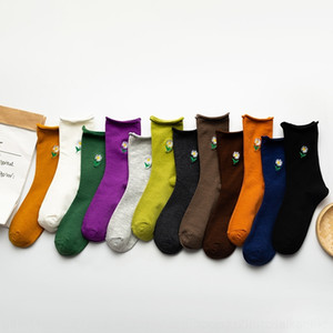 5bL6 Business Solid Color Socks Cotton 10PC=5Pair Fashion lot In Tube Socks Winter Male Casual mens Breathable
