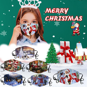Party masks Christmas face mask Snowflake Car Snowman 3D Masks Dustproof Masks For Adults and kids