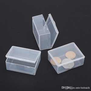 Plastic Storage Boxes 5.5*4.3*2.2cm Small Hardware Piece Transparent Collection Case Holder Container Packing Box for Jewelry - 0009Pack