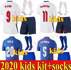 2020 Kids Kit Nationalmannschaft Fußball Jerseys 20 21 Rashford Sancho Rooney Kane Sturridge Sturling Henderson Vardy Jugend Jungen Fußball Hemd