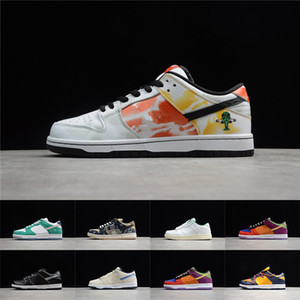 NIKE SB Dunk Sneakers Bas Low Skateboard Chaussures Mens Femmes Shadow Jackboys Diamond Raygun Viotech Sign signe Samba Laser orange