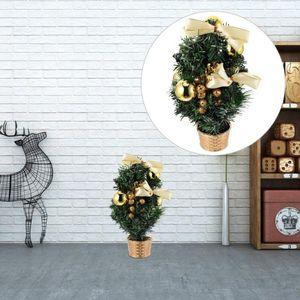 1pc Mini Noel ağacı süsleme Lifelike Canlı Noel Ağacı Dekoru