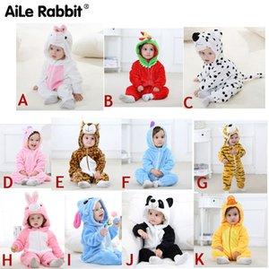Aile Lapin Jumpsuit Baby Jumpsuit garçons et filles Vêtements nouveau-nés à capuche vêtements bébé vêtements mignon Panda Combinaison bébé vêtements 201023