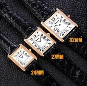 Nuovo Top Luxury Designer Serbatoio Serie Serie Casual Gold Orologio da 32mm 27mm 24mm Womens Real in pelle quarzo Montres Ultra sottile 8014 orologi da polso