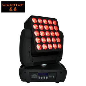 Neue Ankunft 25x12W 4IN1 LED-Matrix Moving Head Beam Licht, DMX 512 RGBW LED Moving Head Strahl 19/29/117 Kanäle 90V-240V