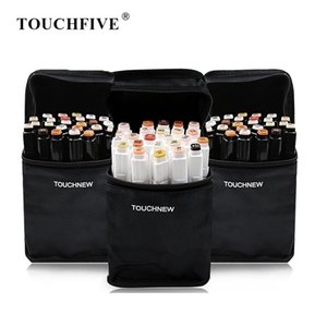 TOUCHFIVE 24 Color Art Markers Set Dual Brush Pens Graphic Art Pens Alcohol Based Sketch Ink For Drawing Manga Markers Art 201116