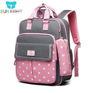Sun Eight School Bags for Girls Kids Bag School Mochilas Niños Mochila Niños Mochila Mochila Escolar LJ201225