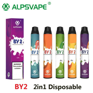 Authentic Alpsvape by2 vape vape 3ml + 3ml 6ml 2in1 Dispositivo de vapor Vapor 900mAh por 2 Vape Pen Stick System 100% oiriginal kangvape onee