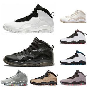 L'alta qualità degli uomini 10s Basketball Shoes Mens Trainers Jumpman 10 Tinker Cemento Westbrook Classe di Im posteriore in acciaio grigio 2006 Sport Sneakers 40-47