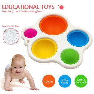 KOSTENLOSE DHL 4 Neueste Stile Baby Sensorie Einfache Grübchen Spielzeug Geschenke Erwachsene Kind Lustige Anti-Stress-Pop Es Stress-Reliver Push-Blasen-Zappelspielzeug
